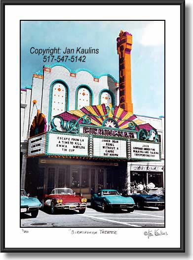 Click on this image to see an enlarged view of Birmingham Theatre photo - picture photo print.