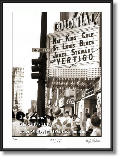 COLONIAL MOVIE THEATER DETROIT photo print