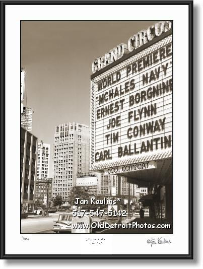 OLD GRAND CIRCUS THEATER Detroit photo print