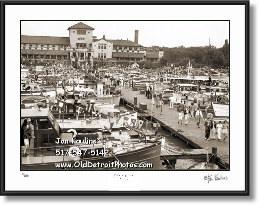 DETROIT YACHT CLUB DYC VINTAGE photo print