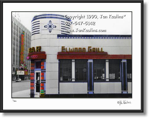 Click on this image to see an enlarged view of ELWOOD BAR & GRILL Detroit photo picture art.