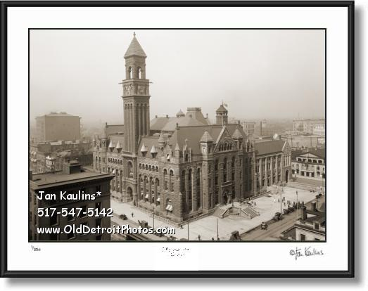 OLD POST OFFICE DETROIT photo print picture