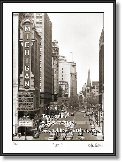 Click on this image to see an enlarged view of MICHIGAN THEATER Detroit photograph photo.