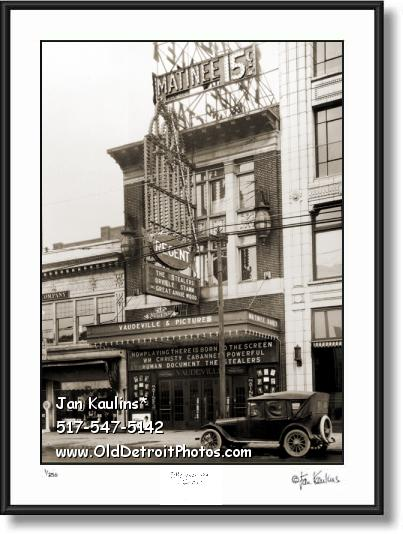 OLD DETROIT REGENT THEATER photo print