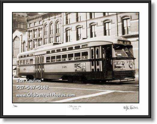 DETROIT WOODWARD STREETCAR photo print