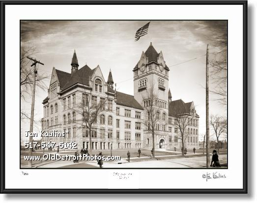 OLD MAIN Central High School Detroit photo print
