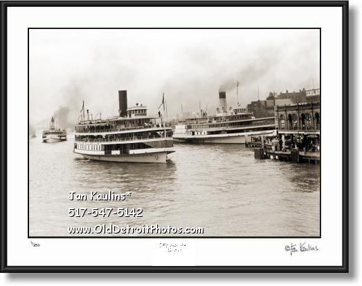 Click on this image to see an enlarged view of Detroit Steamships Brittania & Greyhound photo.