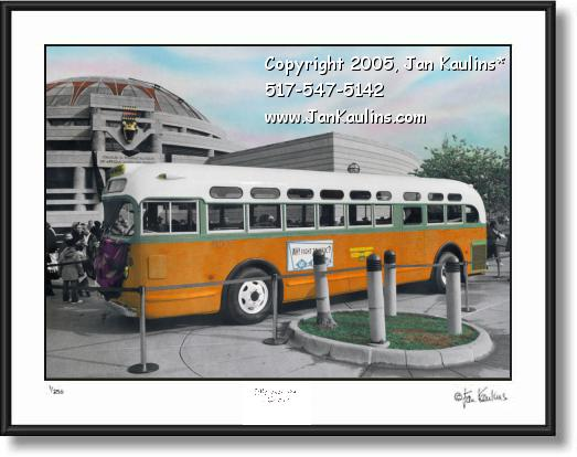 Click on this image to see an enlarged view of ROSA PARKS BUS photo ROSA PARKS BUS print.