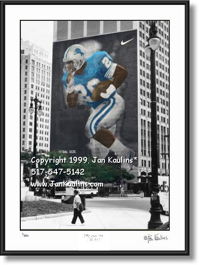 Barry Sanders Mural BARRY SANDERS photo art