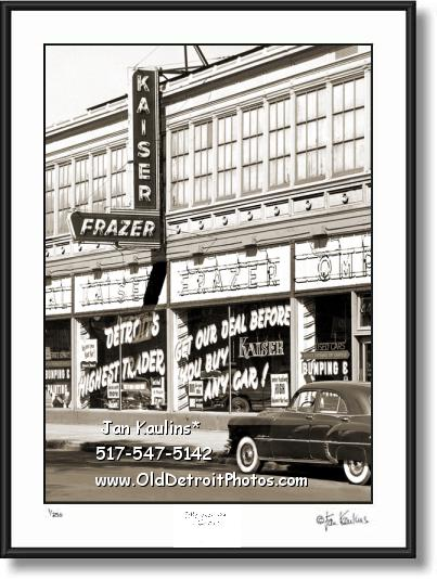 KAISER FRAZER Detroit dealership 1952 photo