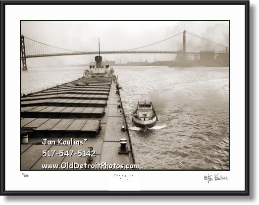Detroit US Mail Boat G.F. Becker 1946 photo print