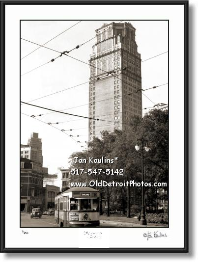 Click on this image to see an enlarged view of BRODERICK TOWER old vintage Detroit photo.