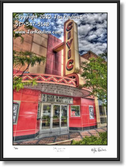 Click on this image to see an enlarged view of FARMINGTON CIVIC THEATER photo art print.