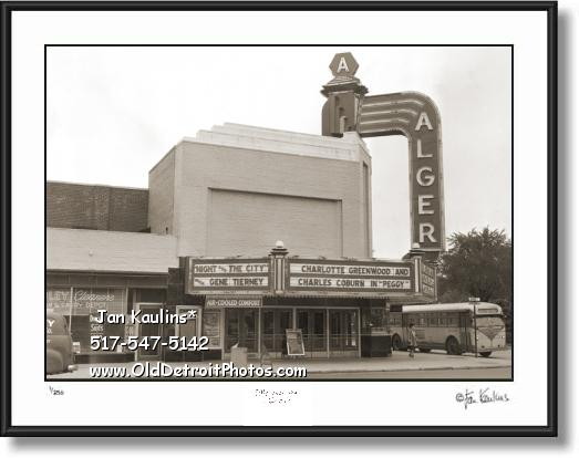 ALGER THEATER Detroit Alger photo picture print
