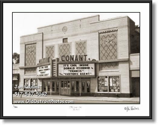 Click on this image to see an enlarged view of Old HAMTRAMCK MOVIE THEATER CONANT photo.