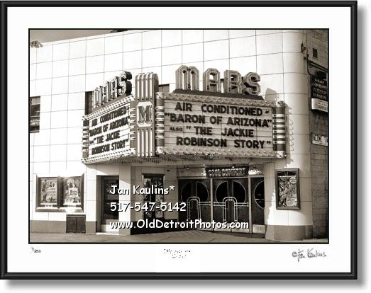 HAMTRAMCK MARS MOVIE THEATER photo print