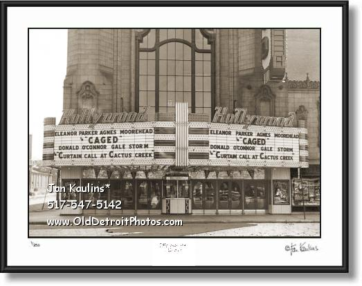 Vintage Detroit HOLLYWOOD Movie Theater photo