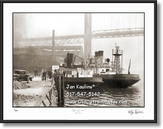 VINTAGE DETROIT FIREBOATS 1930 photo picture