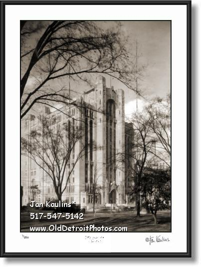 Click on this image to see an enlarged view of DETROIT MASONIC TEMPLE OLD 1930 photo print.