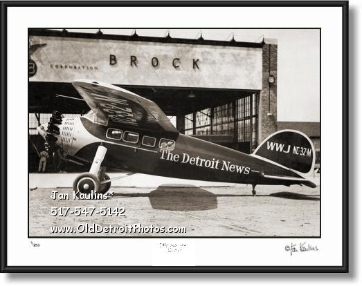 Click on this image to see an enlarged view of DETROIT NEWS VINTAGE AIRPLANE photo print.
