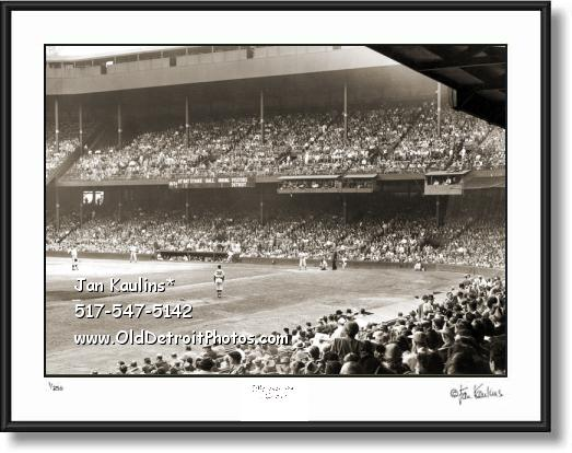 BRIGGS STADIUM Interior 1950 Briggs photo print