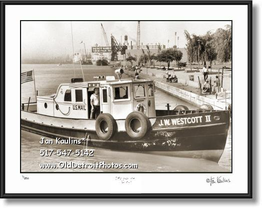 U.S. Mail Boat J.W.Westcott II photo art print
