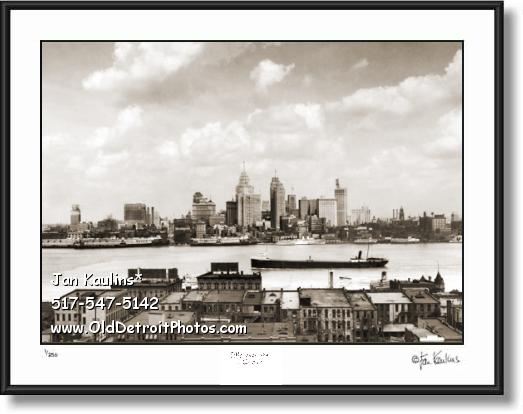 DETROIT Skyline Old Detroit skyline photo 1928