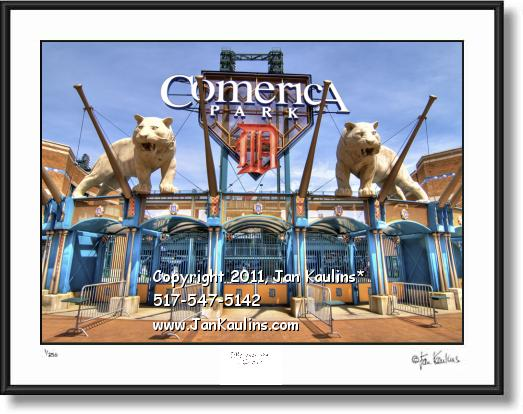 Click on this image to see an enlarged view of COMERICA PARK Detroit Tigers photo print photo.