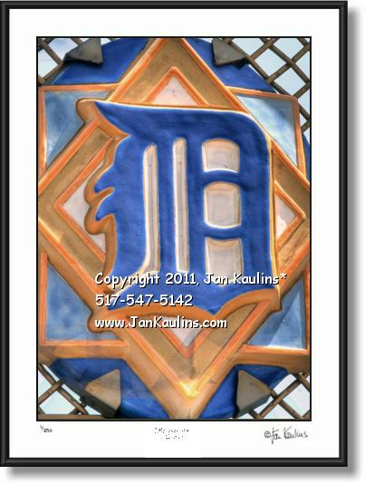 Click on this image to see an enlarged view of COMERICA PARK ENGLISH 'D' Detroit Tigers photo.