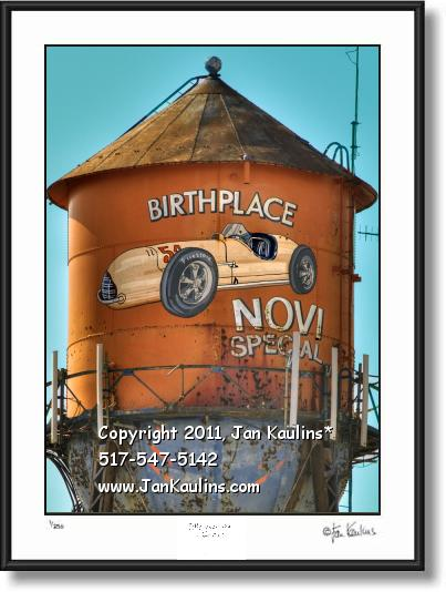 Click on this image to see an enlarged view of NOVI Water Tower Novi Special art photo print.