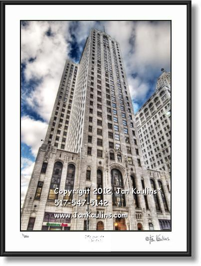 Click on this image to see an enlarged view of BUHL BLDG Detroit photo Buhl Bldg picture print.