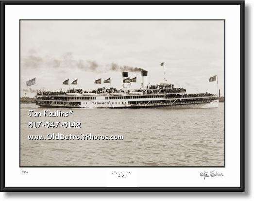 Click on this image to see an enlarged view of TASHMOO STEAMER Tashmoo Detroit photo print.