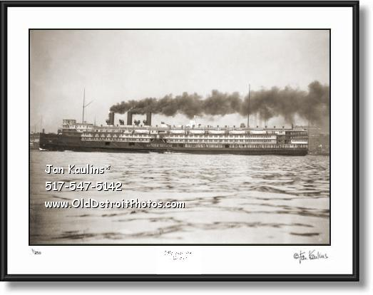 GREATER DETROIT Steamship Steamer photo print