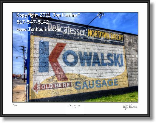 Click on this image to see an enlarged view of KOWALSKI mural KOWALSKI old sign photo print.