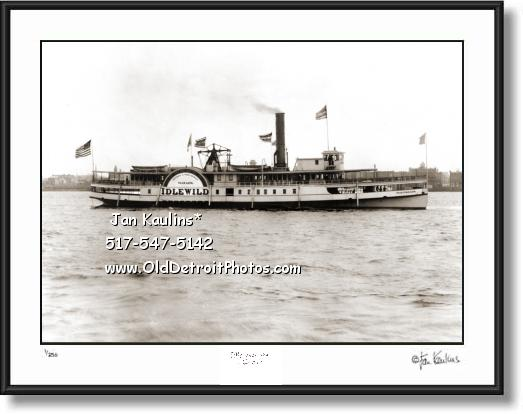 DETROIT STEAMSHIP IDLEWILD 1901 photo print