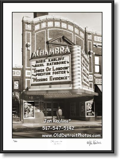 ALHAMBRA THEATER Detroit photo picture print