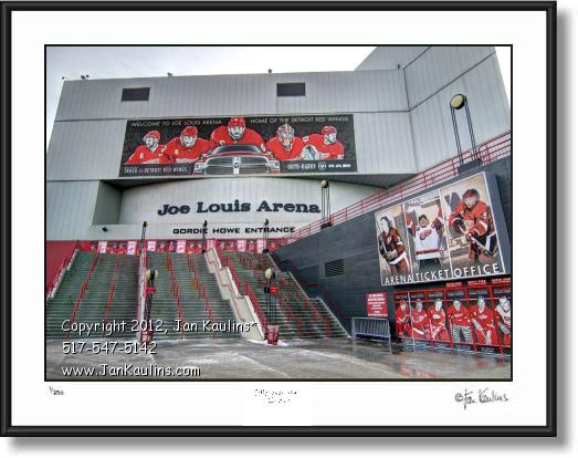 Click on this image to see an enlarged view of JOE LOUIS ARENA Detroit photo picture art print.