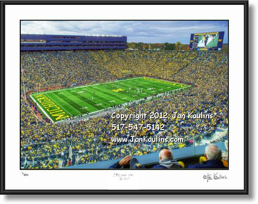 Click on this image to see an enlarged view of MICHIGAN STADIUM UofM photo art print for sale.