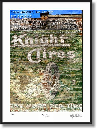 Click on this image to see an enlarged view of DETROIT GHOST SIGN photo picture art print .