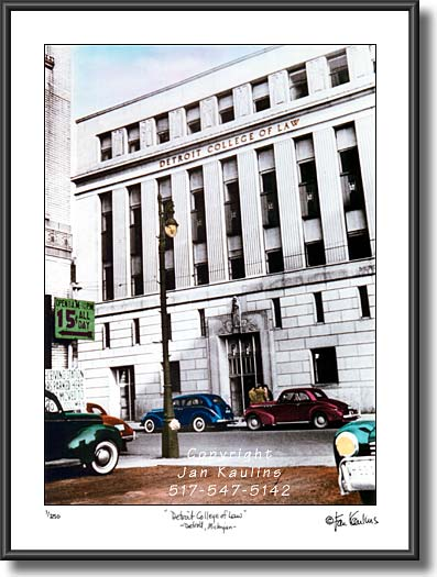 DETROIT COLLEGE LAW picture photograph print