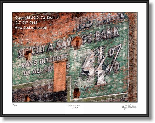 Click on this image to see an enlarged view of DETROIT GHOST SIGN Detroit ghost sign.