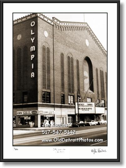 Click on this image to see an enlarged view of OLYMPIA STADIUM Detroit Olympia photo print.