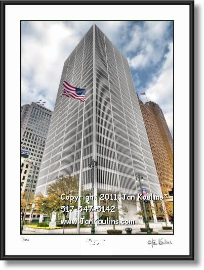Click on this image to see an enlarged view of ONE WOODWARD AVE Detroit photo print.