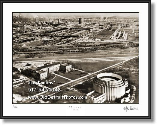 Click on this image to see an enlarged view of Vintage FORD ROUGE PLANT FORD ROTUNDA photo.