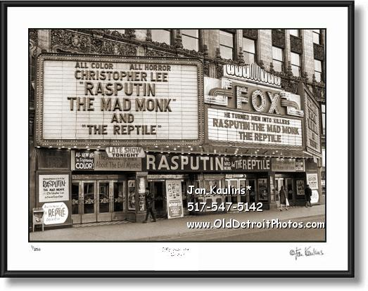 FOX THEATER Old Detroit Fox Movie Theater Photo