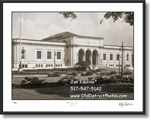 Click on this image to see an enlarged view of DETROIT INSTITUTE of ARTS 1940's photo print.