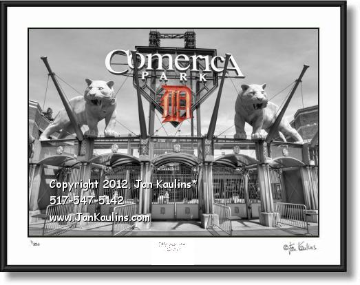 COMERICA PARK TWO TIGERS 'D' photo print art