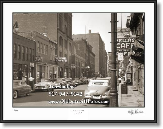 Click on this image to see an enlarged view of OLD GREEKTOWN Detroit photo picture print.
