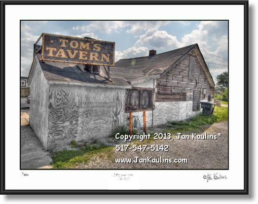 Click on this image to see an enlarged view of TOM'S TAVERN Detroit photo Toms Tavern print.