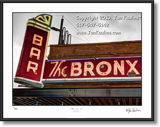 Click on this image to see an enlarged view of BRONX BAR Detroit photo art print BRONX BAR .